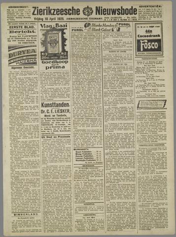 Zierikzeesche Nieuwsbode 1925-04-10