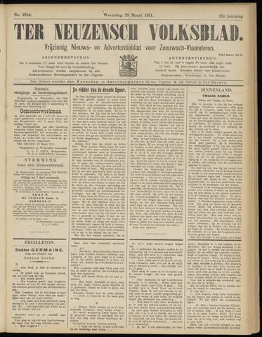 Ter Neuzensch Volksblad. Vrijzinnig nieuws- en advertentieblad voor Zeeuwsch- Vlaanderen / Zeeuwsch Nieuwsblad. Nieuws- en advertentieblad voor Zeeland 1911-03-29