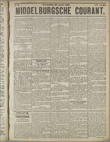Middelburgsche Courant 1921-04-20
