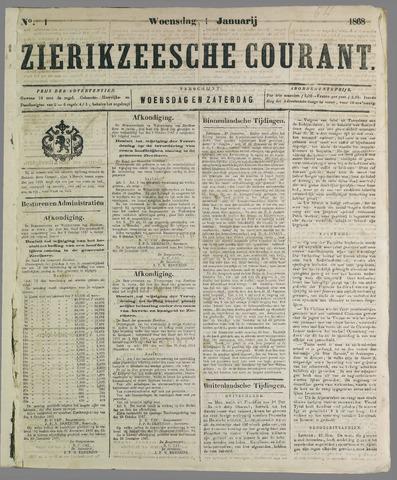 Zierikzeesche Courant 1868