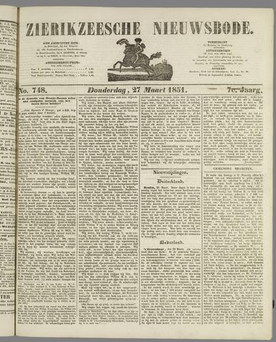 Zierikzeesche Nieuwsbode 1851-03-27
