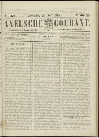 Axelsche Courant 1886-07-24