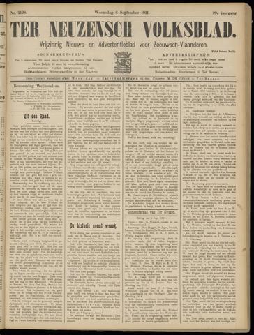Ter Neuzensch Volksblad. Vrijzinnig nieuws- en advertentieblad voor Zeeuwsch- Vlaanderen / Zeeuwsch Nieuwsblad. Nieuws- en advertentieblad voor Zeeland 1911-09-06