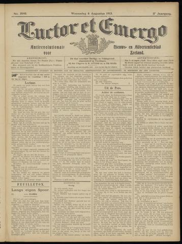 Luctor et Emergo. Antirevolutionair nieuws- en advertentieblad voor Zeeland / Zeeuwsch-Vlaanderen. Orgaan ter verspreiding van de christelijke beginselen in Zeeuwsch-Vlaanderen 1913-08-06