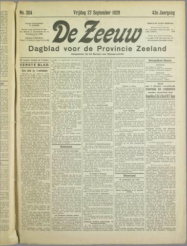 De Zeeuw. Christelijk-historisch nieuwsblad voor Zeeland 1929-09-27