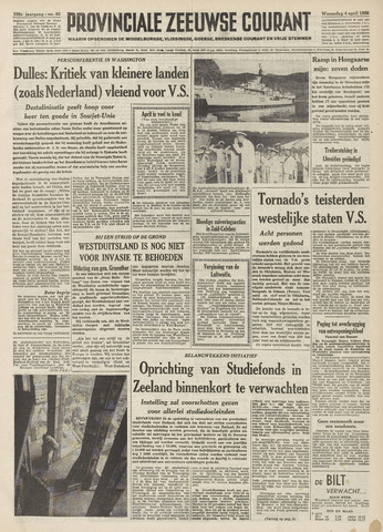 Provinciale Zeeuwse Courant 1956-04-04