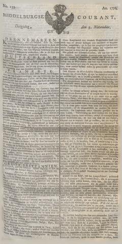 Middelburgsche Courant 1776-11-05