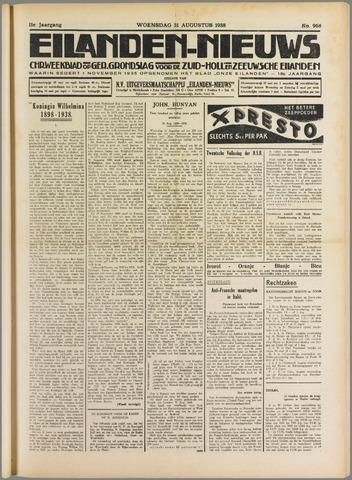 Eilanden-nieuws. Christelijk streekblad op gereformeerde grondslag 1938-08-31