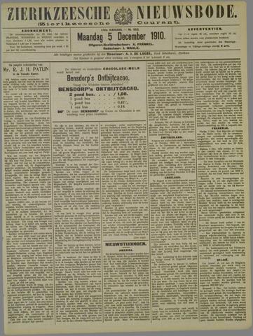Zierikzeesche Nieuwsbode 1910-12-05