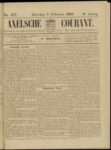 Axelsche Courant 1891-02-07