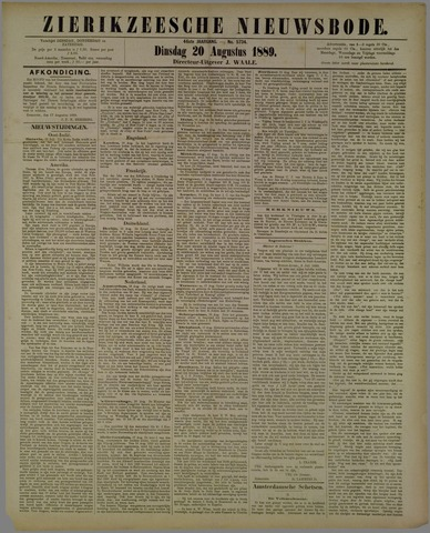 Zierikzeesche Nieuwsbode 1889-08-20