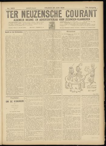 Ter Neuzensche Courant. Algemeen Nieuws- en Advertentieblad voor Zeeuwsch-Vlaanderen / Neuzensche Courant ... (idem) / (Algemeen) nieuws en advertentieblad voor Zeeuwsch-Vlaanderen 1934-06-29