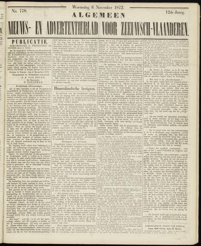 Ter Neuzensche Courant. Algemeen Nieuws- en Advertentieblad voor Zeeuwsch-Vlaanderen / Neuzensche Courant ... (idem) / (Algemeen) nieuws en advertentieblad voor Zeeuwsch-Vlaanderen 1872-11-06
