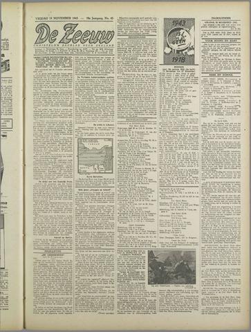 De Zeeuw. Christelijk-historisch nieuwsblad voor Zeeland 1943-11-19