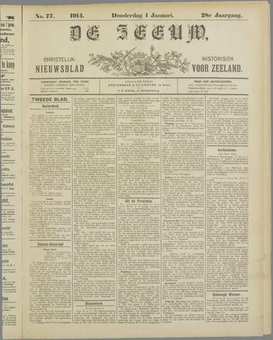 De Zeeuw. Christelijk-historisch nieuwsblad voor Zeeland 1914