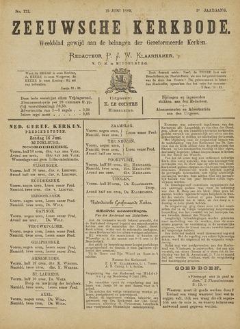 Zeeuwsche kerkbode, weekblad gewijd aan de belangen der gereformeerde kerken/ Zeeuwsch kerkblad 1889-06-15
