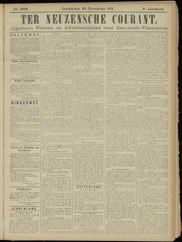 Ter Neuzensche Courant. Algemeen Nieuws- en Advertentieblad voor Zeeuwsch-Vlaanderen / Neuzensche Courant ... (idem) / (Algemeen) nieuws en advertentieblad voor Zeeuwsch-Vlaanderen 1919-11-20