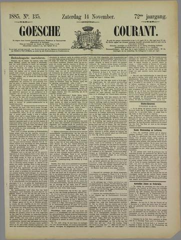 Goessche Courant 1885-11-14