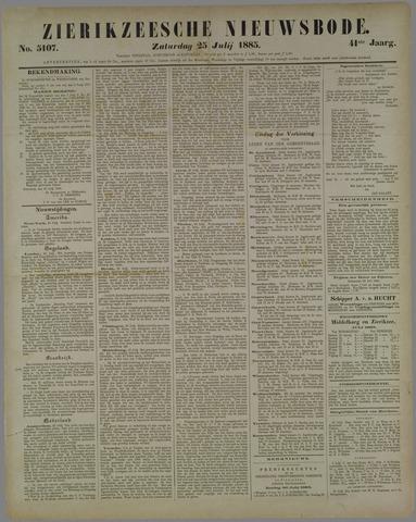 Zierikzeesche Nieuwsbode 1885-07-25