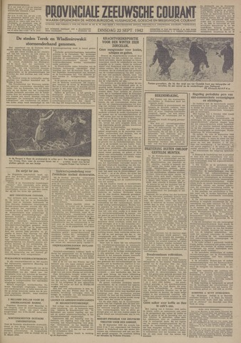 Provinciale Zeeuwse Courant 1942-09-22