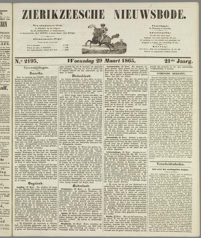 Zierikzeesche Nieuwsbode 1865-03-29