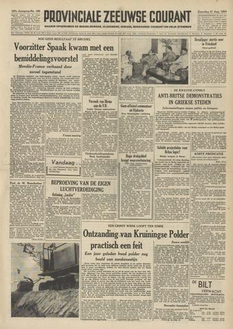 Provinciale Zeeuwse Courant 1954-08-21