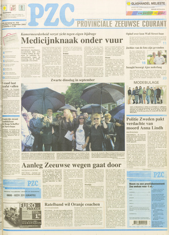 Provinciale Zeeuwse Courant 2003-09-17