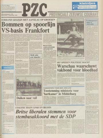 Provinciale Zeeuwse Courant 1981-09-17