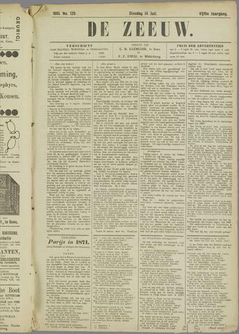 De Zeeuw. Christelijk-historisch nieuwsblad voor Zeeland 1891-07-14