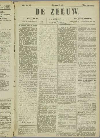 De Zeeuw. Christelijk-historisch nieuwsblad voor Zeeland 1891-07-21