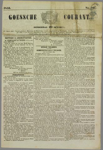 Goessche Courant 1853-10-20