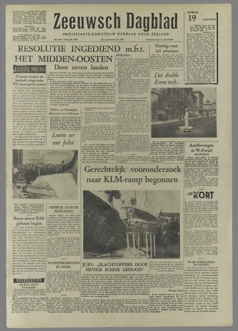 Zeeuwsch Dagblad 1958-08-19
