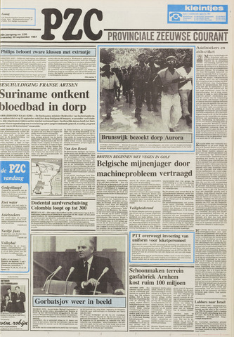 Provinciale Zeeuwse Courant 1987-09-30