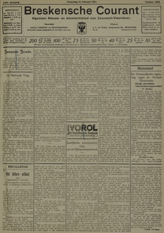 Breskensche Courant 1934-02-14