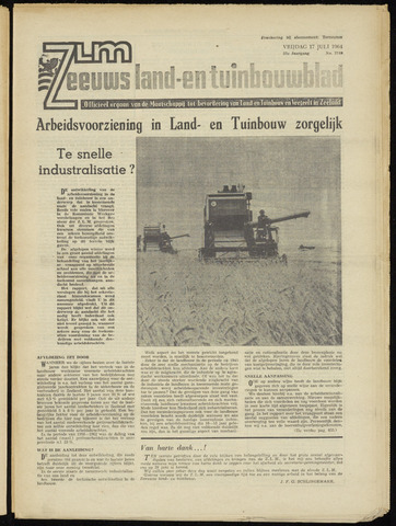Zeeuwsch landbouwblad ... ZLM land- en tuinbouwblad 1964-07-17