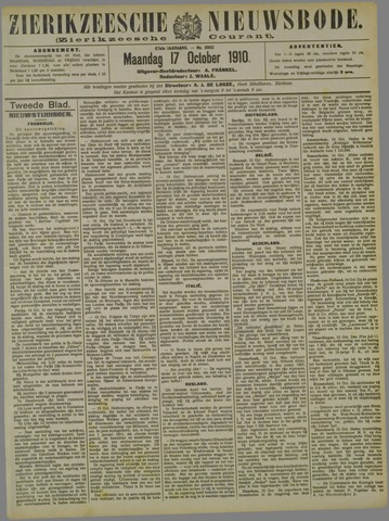 Zierikzeesche Nieuwsbode 1910-10-17