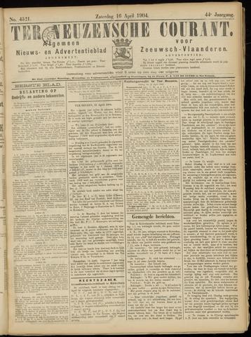 Ter Neuzensche Courant. Algemeen Nieuws- en Advertentieblad voor Zeeuwsch-Vlaanderen / Neuzensche Courant ... (idem) / (Algemeen) nieuws en advertentieblad voor Zeeuwsch-Vlaanderen 1904-04-16