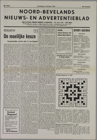Noord-Bevelands Nieuws- en advertentieblad 1982-12-09