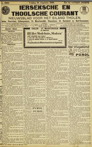 Ierseksche en Thoolsche Courant 1928-08-31