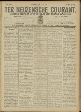 Ter Neuzensche Courant. Algemeen Nieuws- en Advertentieblad voor Zeeuwsch-Vlaanderen / Neuzensche Courant ... (idem) / (Algemeen) nieuws en advertentieblad voor Zeeuwsch-Vlaanderen 1915-04-10