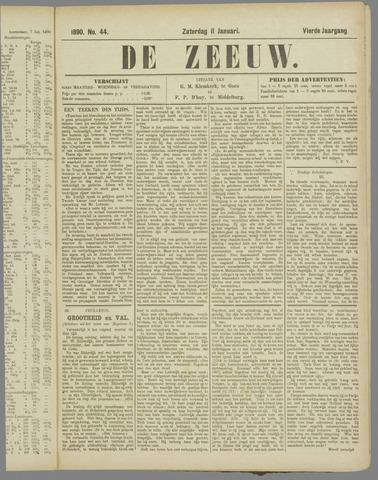 De Zeeuw. Christelijk-historisch nieuwsblad voor Zeeland 1890-01-11