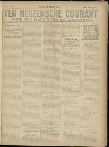 Ter Neuzensche Courant. Algemeen Nieuws- en Advertentieblad voor Zeeuwsch-Vlaanderen / Neuzensche Courant ... (idem) / (Algemeen) nieuws en advertentieblad voor Zeeuwsch-Vlaanderen 1924-03-21