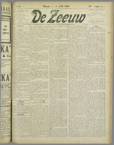 De Zeeuw. Christelijk-historisch nieuwsblad voor Zeeland 1921-07-18