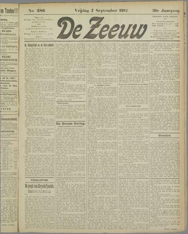 De Zeeuw. Christelijk-historisch nieuwsblad voor Zeeland 1917-09-07
