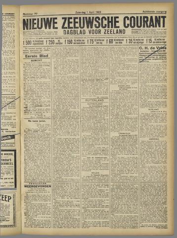 Nieuwe Zeeuwsche Courant 1922-04-01