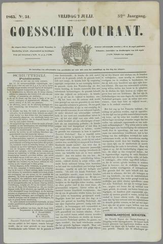 Goessche Courant 1865-07-07