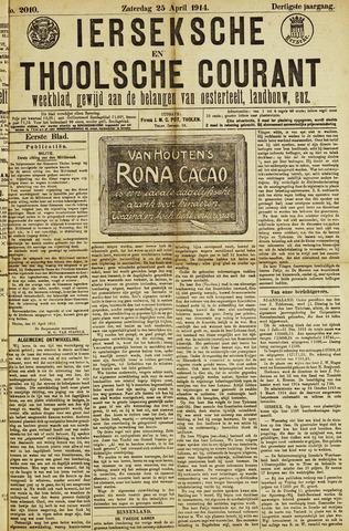 Ierseksche en Thoolsche Courant 1914-04-25