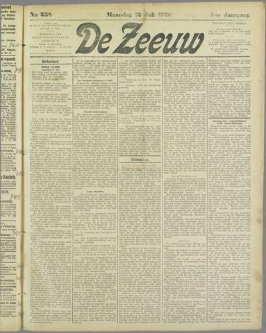 De Zeeuw. Christelijk-historisch nieuwsblad voor Zeeland 1920-07-12