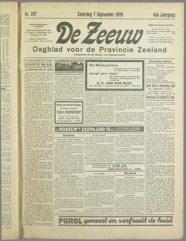 De Zeeuw. Christelijk-historisch nieuwsblad voor Zeeland 1929-09-07