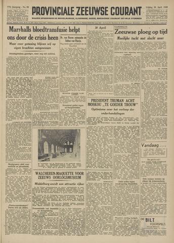 Provinciale Zeeuwse Courant 1949-04-29